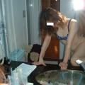 【アダルト素人投稿】素人カップルの鏡撮りのセックス画像がプロ顔負けのエロさ!