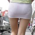 【アダルト透けパン】素人女性のパンティーラインをこっそり盗撮した結果www