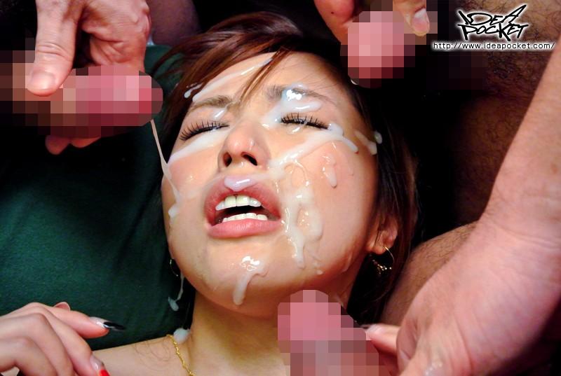 【ぶっかけ700発画像】濃厚ザーメンが顔面に果てしなく集中砲火!こんなの見たことないwww