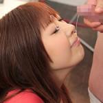 【顔射エロ画像】女の子の可愛い顔をザーメンでドロッドロに汚す顔射!