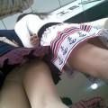 【ローアングルエロ画像】ナナメ下からのローアングルから女の子の股間を狙い撃ち!