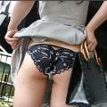 【セルフパンチラエロ画像】自分でスカートをめくってパンチラ披露!セルフパンチラ!