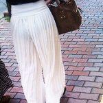 【ガウチョパンツエロ画像】街中で透けパンやパンティーラインが盗撮できちゃうガウチョパンツのエロ画像集ww!w【80枚】