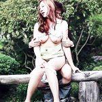 【青姦エロ画像】野外で女の子を全裸にして辱めながらセックス調教を堪能している青姦のエロ画像集!ww【80枚】