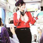 【バスガイドコスプレエロ画像】美人のバスガイドさんと制服姿で着衣セックスしてるバスガイドコスプレのエロ画像集!!【80枚】