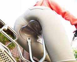 【自転車尻エロ画像】尻肉がサドルに食い込むチャリンコ女子をずっと見送っていられる自転車尻のエロ画像集!ww【80枚】