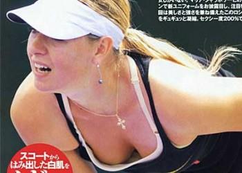 【シャラポアエロ画像】恐らく世界中で最もオカズにされたアスリートwwフェロモン前回テニスプレーヤー「マリア・シャラポア」の乳首ポチ・スジ画像集。