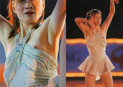 【フィギュアスケートエロ画像】表現力よりエロ!フィギュアスケートでの乳首チラや大股開きなどのお宝エロ画像を集めてみました。